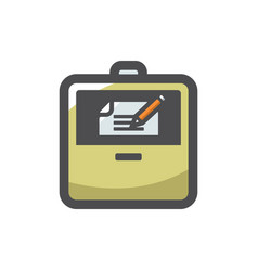 briefcase with document icon cartoon vector image