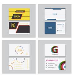 business model name card luxury modern black vector image