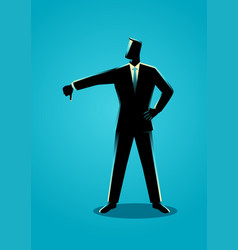 Businessman posing with thumb down vector