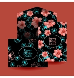 Cards design and envelope template or mockup vector