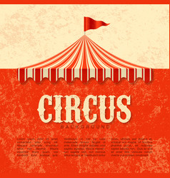 Circus advertisement vintage poster background vector