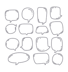 collection speech bubble or chat elements vector image