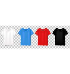 colorful t-short design template set transparent vector image
