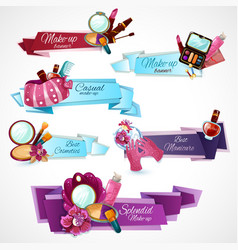 Cosmetics Banner Set vector image