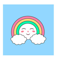 cute heavenly character vector image