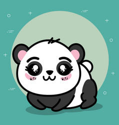 cute panda animal cartoon vector image
