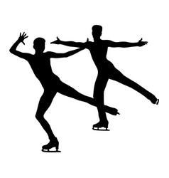 dancing pair skating vector image