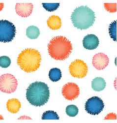 Decorative party pom poms seamless repeat vector