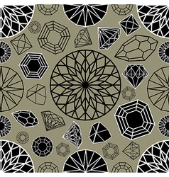 Diamonds seamless 03 vector
