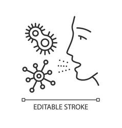 Dust allergy linear icon vector