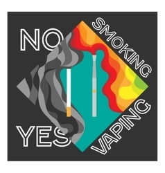 electronic cigarette and tobacco advantage vaping vector image