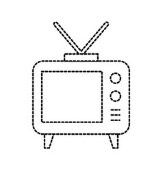Electronic tv with antenna emission communication vector