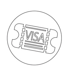 entrance visa icon vector image