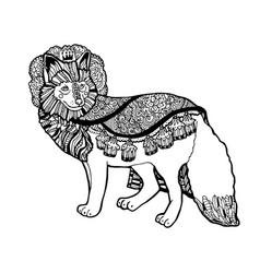 fantasy fox prince from drea vector image