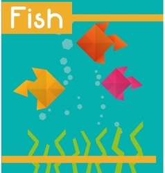 Fish figure design vector