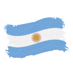 flag of argentina grunge abstract brush stroke vector image