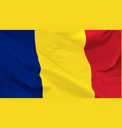 flag romania vector image