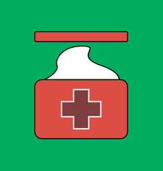 flat icon design collection medical napkins vector image