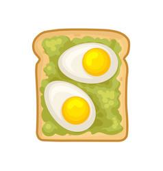 Flat icon of delicious sandwich fresh rye vector