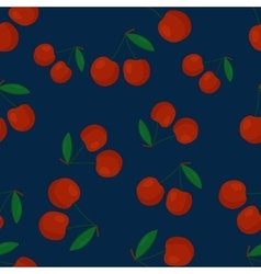 Fruits cherry seamless patterns vector