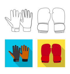glove and winter sign set vector image