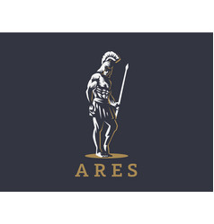 God ares or mars with a spear vector