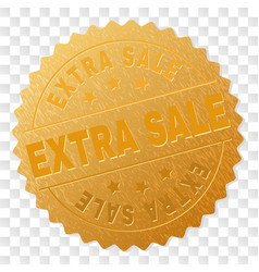 golden extra sale award stamp vector image
