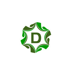 green project solution center initial d vector image