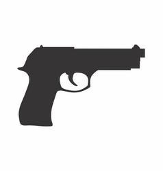 gun dark silhouette vector image