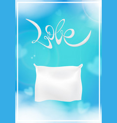 handwritten inscription love valentines day vector image