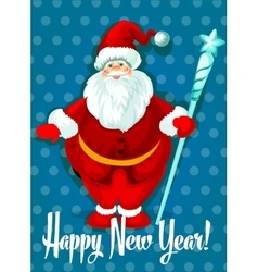 Happy New Year card Santa symbol vector