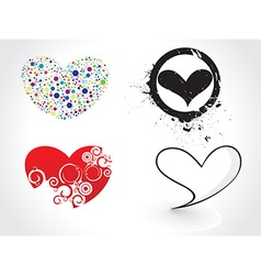 Hearts design vector