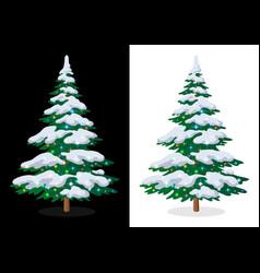 holiday christmas tree vector image