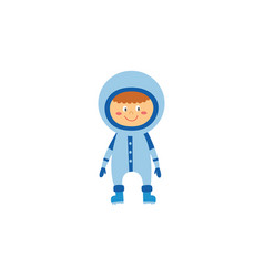 kid boy astronaut or cosmonaut cartoon character vector image
