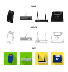 Laptop and device symbol vector