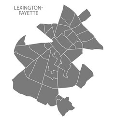 Lexington-fayette kentucky city map with vector