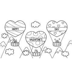love hot air balloon vector image