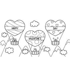 Love hot air balloon vector