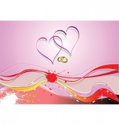 love waves vector image