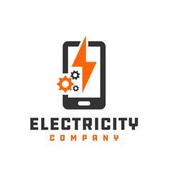 Mobile electronic repair logo vector