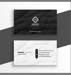 modern black and white business card template vector image