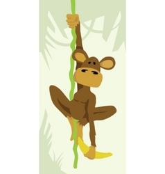 monkey on vine vector image