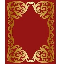 Openwork gold frame vector image