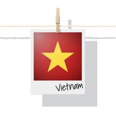 Photo of vietnam flag on white background vector