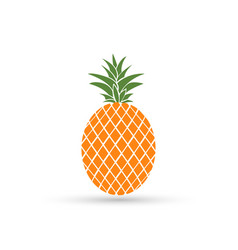 pineapple isolated on white background summer vector image