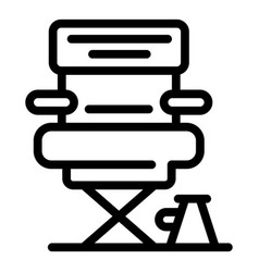 Producer chair icon outline style vector