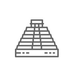 pyramid kukulkan at chichen itza mexico vector image