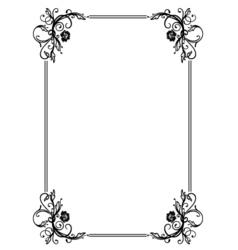 Roses frame vector