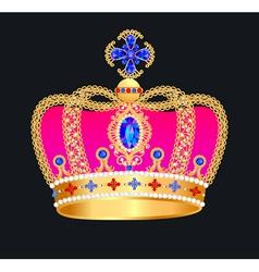 Royal gold crown vector