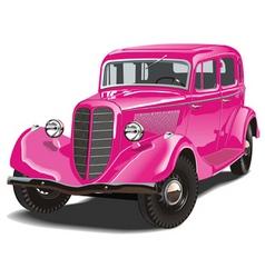 Russian retro car vector